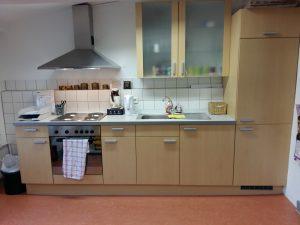 Die Küche unseres Tanzstudios.