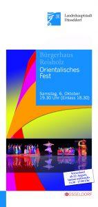 Flyer orientalische Fest Bürgerhaus Reisholz